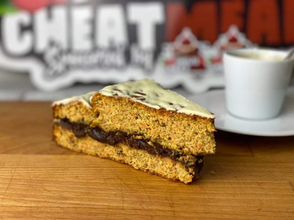 Carrot cake fitness con chocolate blanco