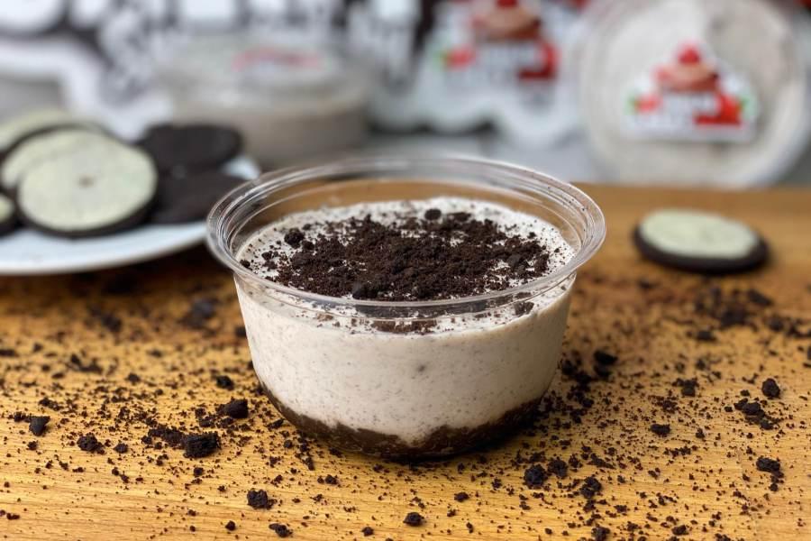 Cheesecake con black cookies 2