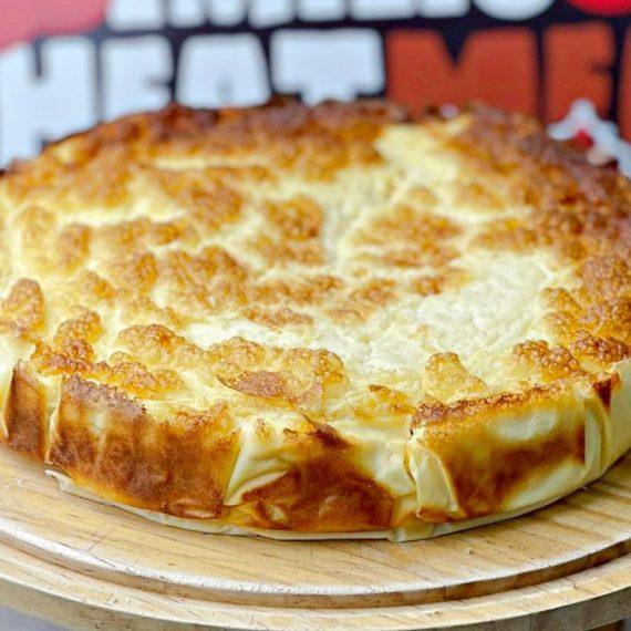 Tarta de queso fitness completa